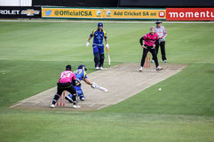 Momentum One Day Cup. The Momentum one day Cup played at St Georges Park in Port Elizabeth South Africa between Chevrolet Warriors and Nashua Mobile Cape Cobras royalty free stock image