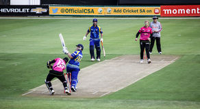 Momentum One Day Cup. The Momentum one day Cup played at St Georges Park in Port Elizabeth South Africa between Chevrolet Warriors and Nashua Mobile Cape Cobras stock image