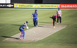 Momentum One Day Cup. The Momentum one day Cup played at St Georges Park in Port Elizabeth South Africa between Chevrolet Warriors and Nashua Mobile Cape Cobras royalty free stock photo