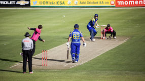 Momentum One Day Cup. The Momentum one day Cup played at St Georges Park in Port Elizabeth South Africa between Chevrolet Warriors and Nashua Mobile Cape Cobras royalty free stock photography
