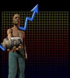 momentum uppåt stock illustrationer