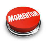 Momentum Word Red Button Moving Forward Progress Success Royalty Free Stock Image