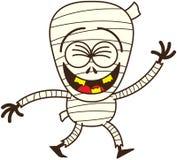 Momia divertida de Halloween que ríe entusiasta stock de ilustración