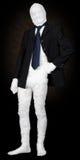 Momia en chaqueta y lazo imagenes de archivo