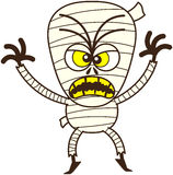 Momia enojada de Halloween que es asustadiza libre illustration
