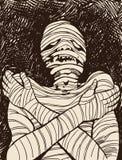 Momia espeluznante stock de ilustración