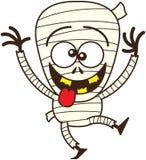 Momia fresca de Halloween que hace caras divertidas Imagen de archivo libre de regalías