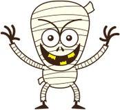 Momia fresca de Halloween que sonríe dañoso stock de ilustración