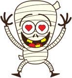 Momia linda de Halloween en amor stock de ilustración