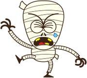 Momia linda de Halloween que llora y que solloza ilustración del vector