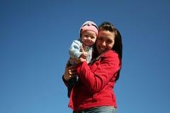 Momia y bebé Fotos de archivo