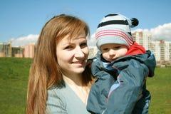 Momia y niño Imagen de archivo libre de regalías