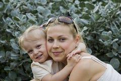 Momia y su hija foto de archivo