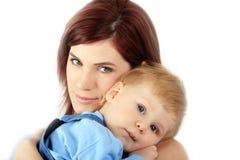 Momie avec l'enfant image stock