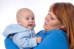 Momie avec le fils Photos libres de droits