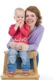 Momie avec un petit descendant Photographie stock libre de droits
