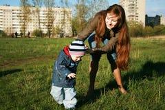 Momie et enfant Images libres de droits