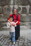 Momie et le fils Image libre de droits