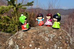 Momiji Dolls Royalty Free Stock Images