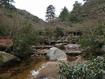 Momijidani Park, Miyajima Island, Hiroshima, Japan. Hiking at Momijidani Park, Miyajima Island, Hiroshima, Japan royalty free stock photos