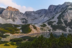 Momin and Sinanitsa peaks Sunset, Pirin Mountain Stock Images