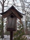 Mommas bird house. Bird house in mommas front yard royalty free stock photography