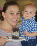 Mommy and Baby Cupcake Stock Photo