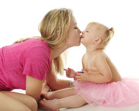 Mommy-Baby Kissy-Poo Stock Photo