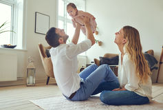 Mommy and daddy& x27;s little angel Stock Photos