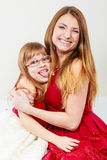 Mommy and daughter having fun Royalty Free Stock Images