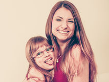Mommy and daughter having fun Stock Image