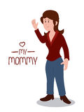 Mommy design Royalty Free Stock Photo