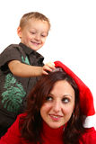 Mommy Get Ready For Christmas Royalty Free Stock Image
