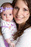 Mommy Holding Daughter. Pretty mommy holding cute daughter Royalty Free Stock Photo