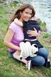 Mommy Hugs Royalty Free Stock Photos