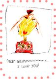 Mommy I love you, card for Mother s Day, vector illustration stock illustration