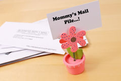 Mommy's Mail Royalty Free Stock Photo