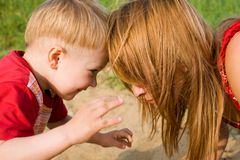 Mommy and son Royalty Free Stock Photography