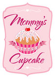 Mommys Little Cupcake T-shirt. Illustration for a child's T-shirt showing affection Stock Photos