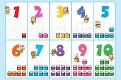 MoMo Number Chart Royalty Free Stock Images