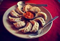 Momo - piatto nepalese tradizionale Fotografia Stock