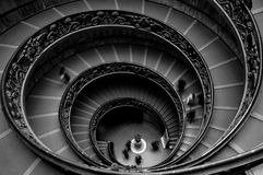 Momo spiral staircase. The Momo spiral staircase in the Vatican Museums in Rome Italy, is one of the great architecture masterpiece of the last century. Designed royalty free stock photos