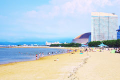Momochi beach, Fukuoka, Japan in summer season Stock Photo