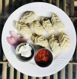 Momos makes you happy. stock images