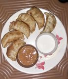 Momos. Are the revolutionary new option in the food category of snacks. People love it Royalty Free Stock Image