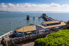 Mompelt Pier Wales Stock Afbeelding