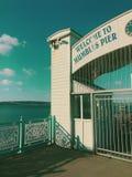 Mompelt pijler Swansea stock afbeeldingen