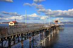 Mompelt Pijler in Swansea Stock Foto's