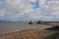 Mompelt pijler, Swansea, Wales, het UK stock foto