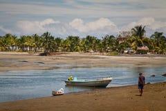 Mompiche beach and Portete island in Esmeraldas Royalty Free Stock Photography